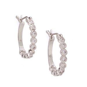 KATE SPADE • Full Circle Crystal Hoop Earrings